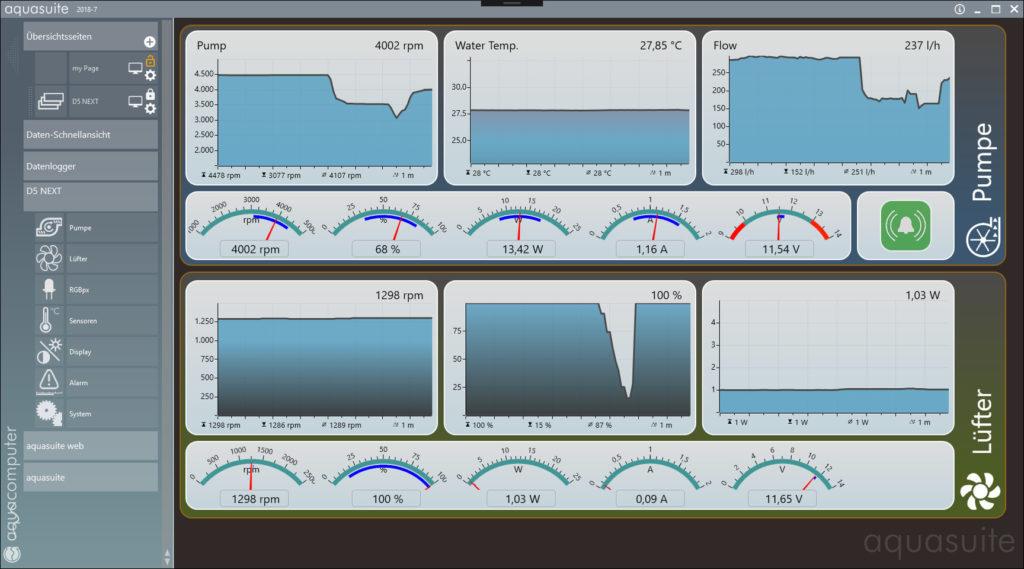 Программное обеспечение Aqua Computer D5 Next