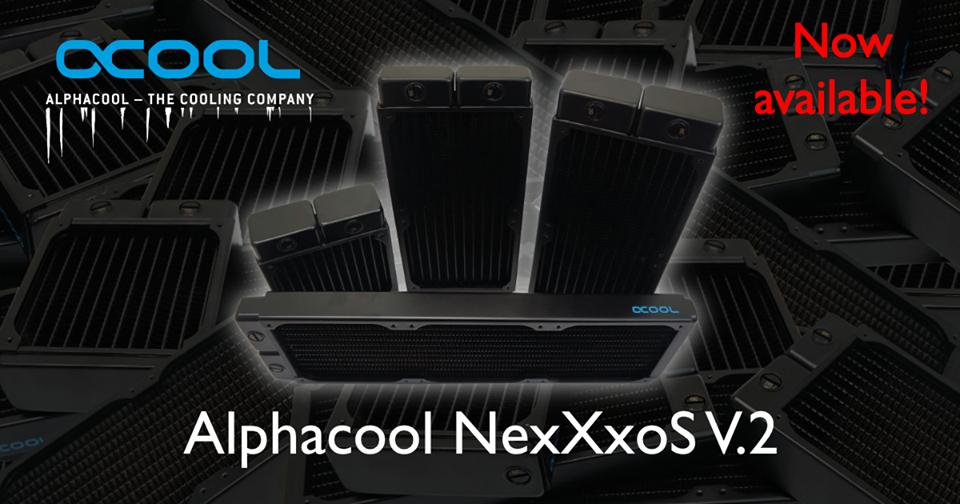 Выпущены новые радиаторы Alphacool NexXxos V.2